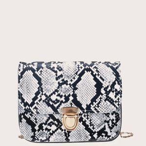 BRAND NEW Snakeskin Flap Crossbody Bag